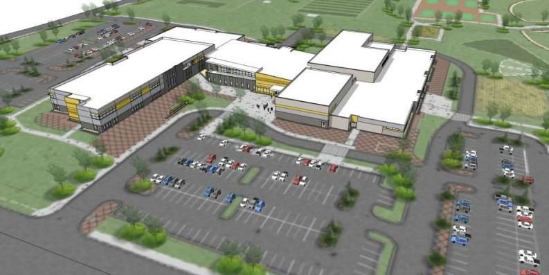 Aerial of the new East High School