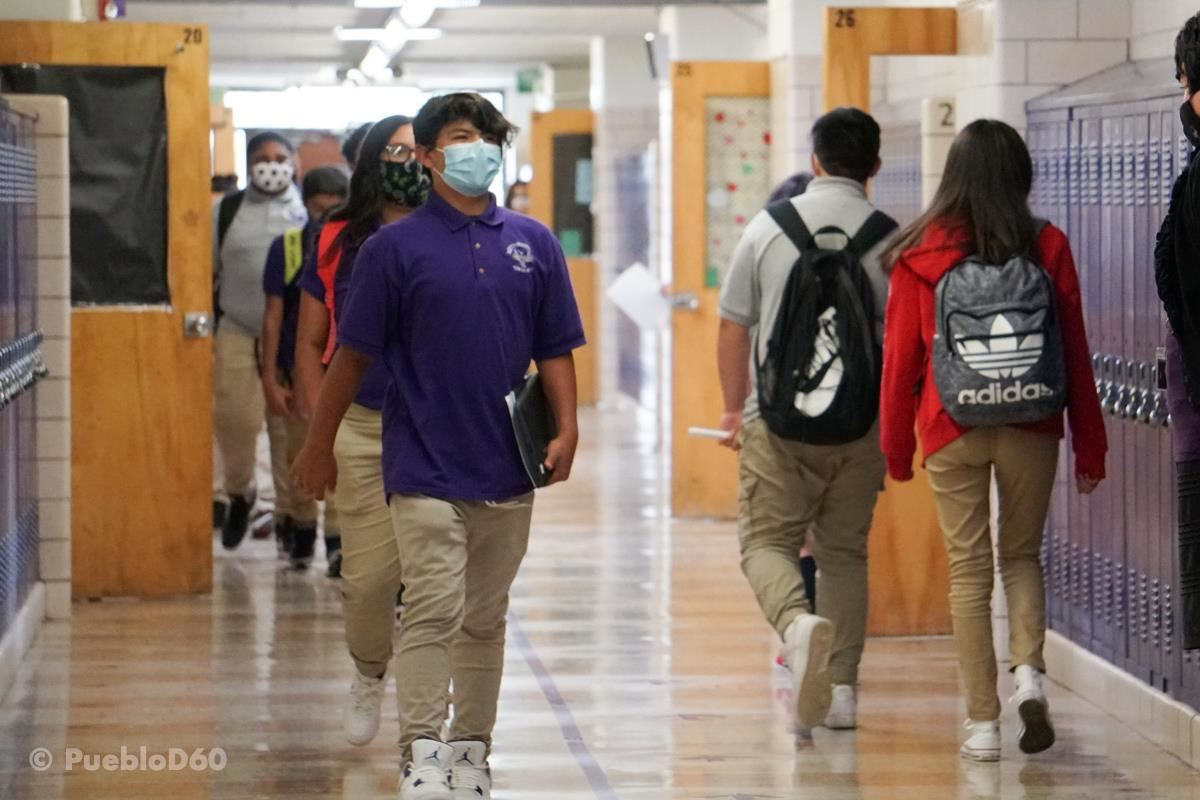 Students at PAA walking the halls between classes