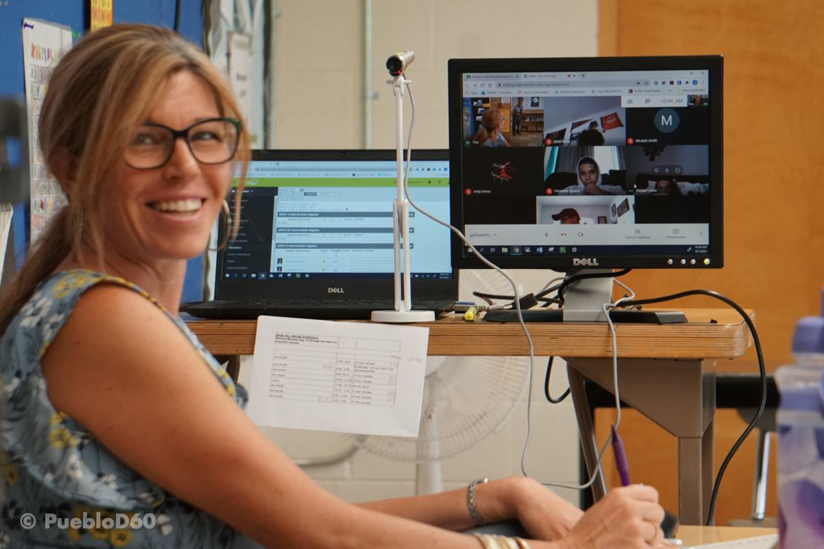 A D60 teacher shows off her virtual classroom