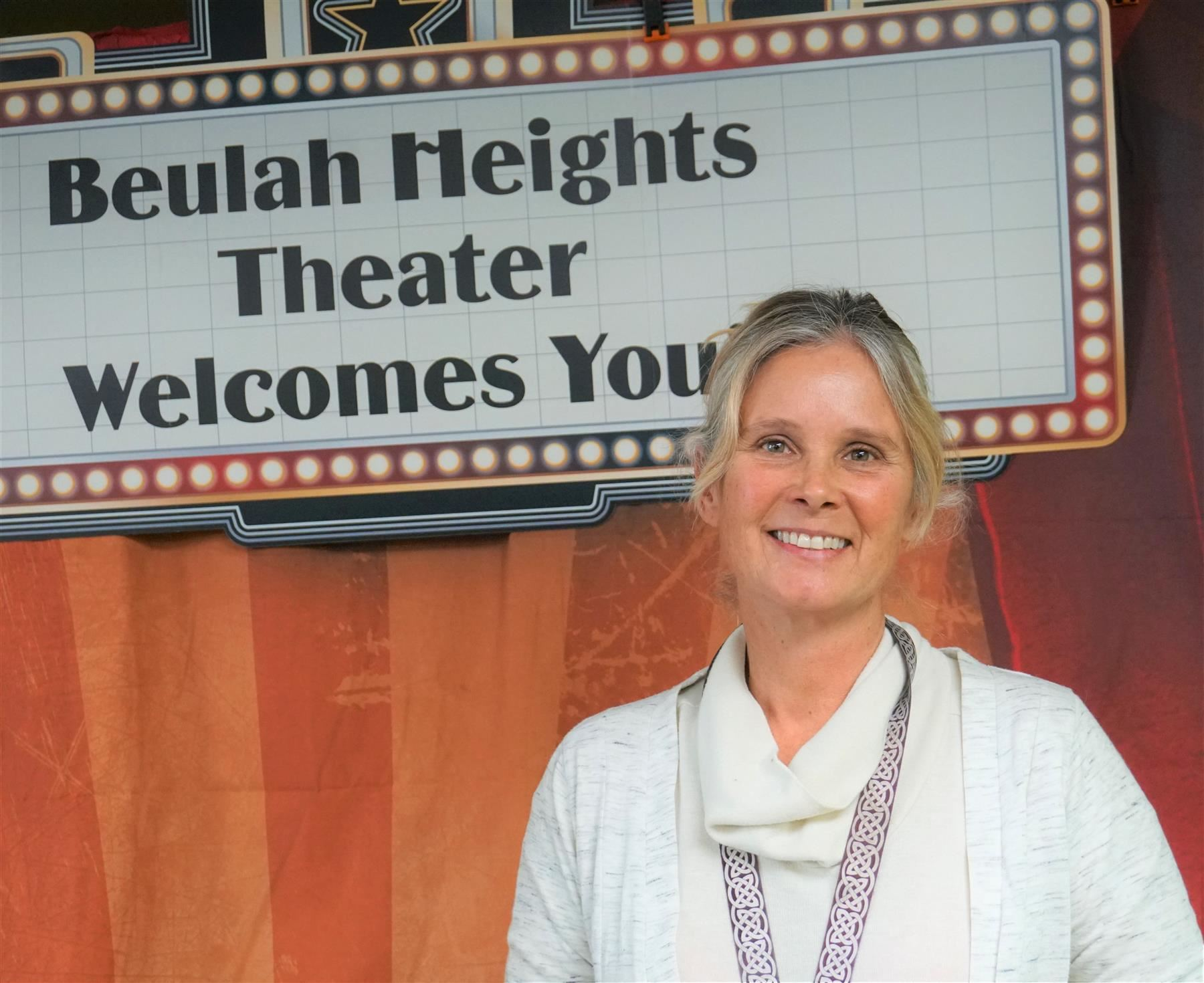 Hope Reilly stands in front of her office at Beulah Heights