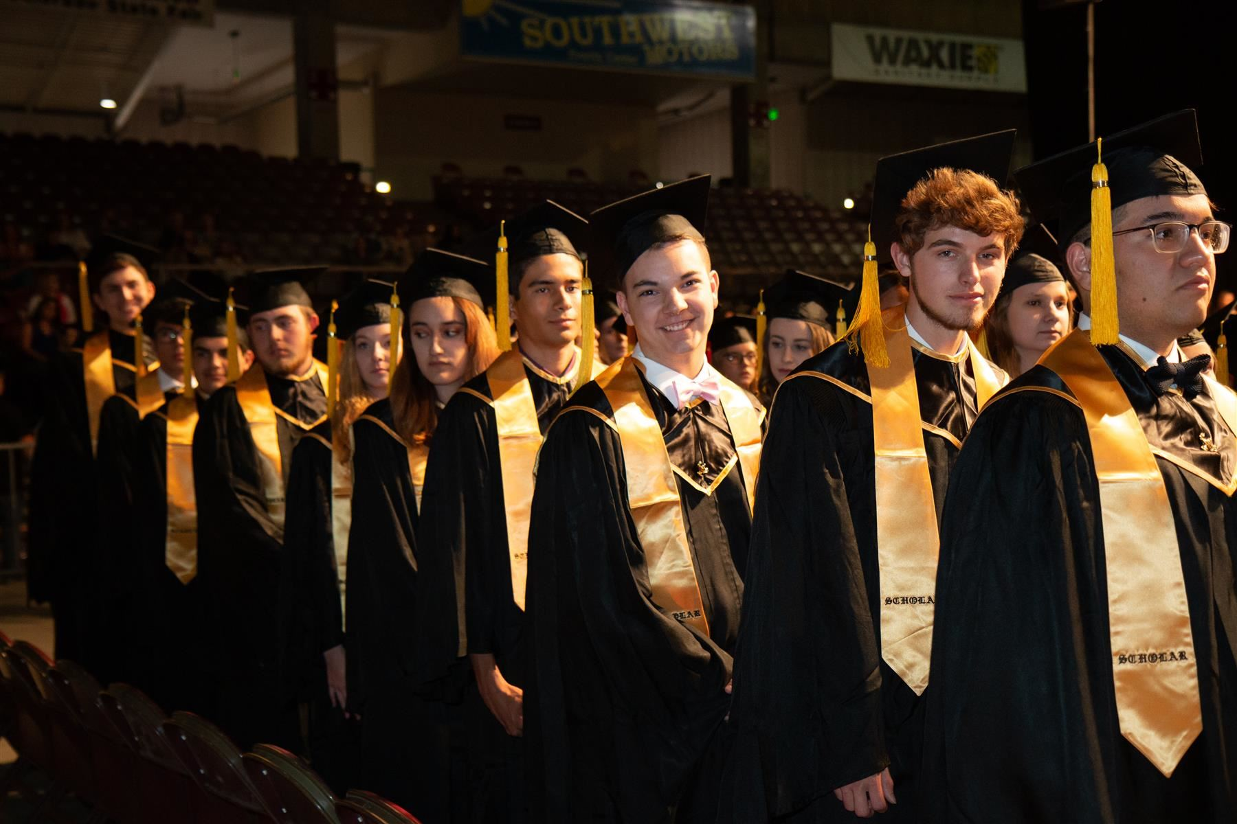 East High School students at graduation in 2019.