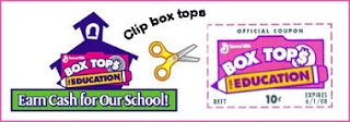 Box Tops for Education: Clip box tops - earn cash for our school!