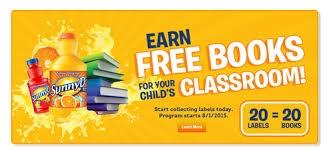 Collect Sunny D Labels: Earn Free Books for Your Child's Classroom!